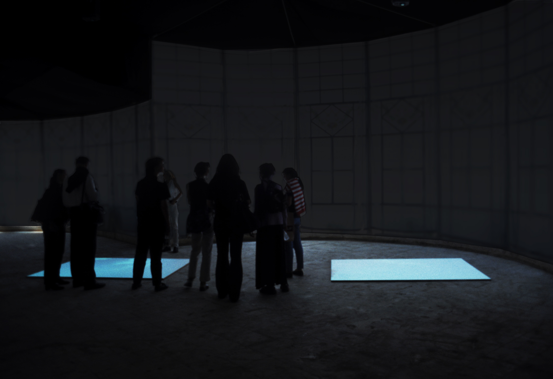Skies Captured, real time video installation, Istanbul Biennial 2001